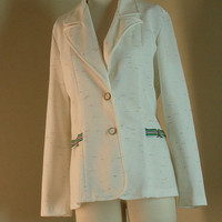 1970s White Polyester Jacket