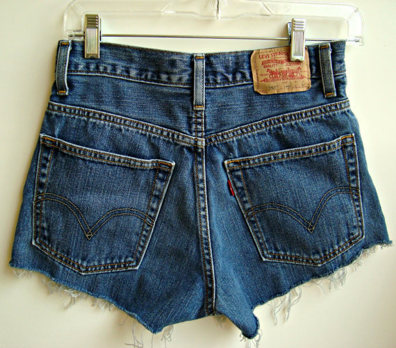 High Waisted Levi Shorts Denim Jean Shorts Size 0