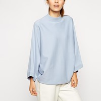 ASOS Structured Jumper With Cape Sleeve and Turtle Neck at asos.com