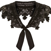 Black beaded bolero collar - capes / ponchos - accessories - women