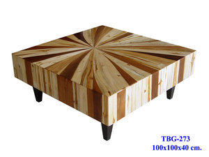 Thai Slab Furniture &amp;mdash; Mixed Wood Coffee Table Custom Sizes &amp; Designs Available Dining Room Living Room