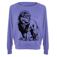 Womens Lion Professor Tri-Blend Raglan Pullover - American Apparel - S M and L (8 Color Options)