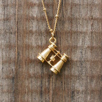 Charming Binocular Necklace [2956] - $9.00 : Vintage Inspired Clothing & Affordable Summer Dresses, deloom | Modern. Vintage. Crafted.