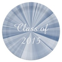 Class of 2015 Blue Paper Plates by Janz 9 inch