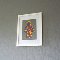 Frame Silhouette Of A Minifig In Lego Pieces | The Gadget Flow