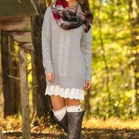 Fall Back Together Sweater-Heather