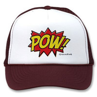 Burgundy Pow Snapback