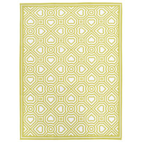 Heal's 1810 Lattice & Parquet Green Set Of Two Tea Towels