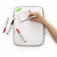 DOODLE NOTECASE FOR IPAD - DRAW ON IT, WASH IT, DO IT AGAIN