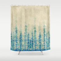 Winter Woods  Shower Curtain by rskinner1122