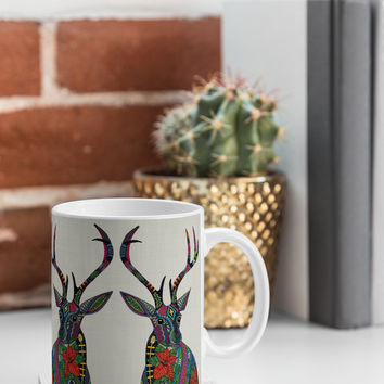 Sharon Turner Poinsettia Deer Coffee Mug ~ Just $13.50 with code: sharonturner ~ perfect for chrissy!