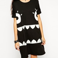 ASOS Halloween Monster Glow in the Dark T-Shirt Dress at asos.com