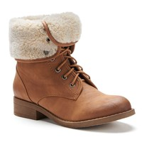 Mudd Brown Women's Fold-Over Boots