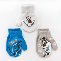 Disney Frozen Olaf 3-pk. Mittens - Toddler