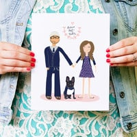 Custom Portraits for your wedding day or anniversary gift by Yellow Heart Art