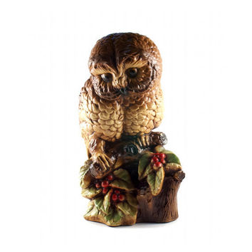 Vintage Owl Statue Figurine Kitsch Hipster Home Decor Wise Bird / 70s 80s