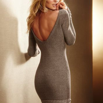 Lurex® Sweaterdress with Ruffle Hem - Victoria's Secret
