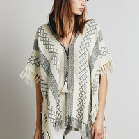 Free People Weave Lightweight Poncho