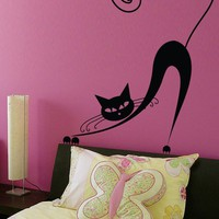 Vinyl Wall Decal Sticker Art Pussy Cat by wordybirdstudios