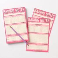Baking Notes Notepad-Anthropologie.com