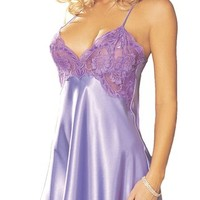 Shirley of Hollywood Women's Sexy Charmeuse Chemise