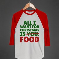 All I Want For Christmas is You - FOOD - T-Shirt (GRN RED 312131)