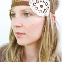 A Shabby Chic Headband by thevintagetreehouse on Etsy