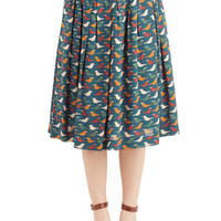 ModCloth Long Full Fly Away Roam Skirt