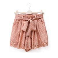 Dot Hollow Lovely Shorts $37.00