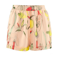 Retro Thin Floral Shorts $35.00