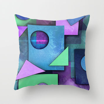 Geometric Chaos Throw Pillow by tjc555 | Society6