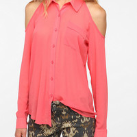 Pins and Needles Cold Shoulder Chiffon Blouse