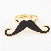 Metal Moustache Ring
