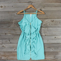 Mint Ruffle Dress, Sweet Women&#x27;s Country Clothing