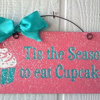Christmas sign decor with glitter.There's by DiamondDustDesigns