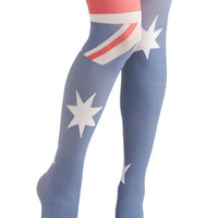 Yea or Nation Tights in Australia | Mod Retro Vintage Tights | ModCloth.com