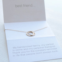 Best friend necklace - lighthearted friendship necklace - 1293