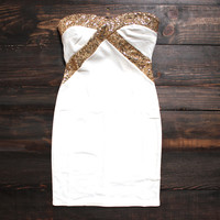 angelic little white party dress