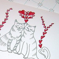 Cats Kitties Anniversary Card