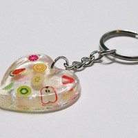 Resin fruit key-chain