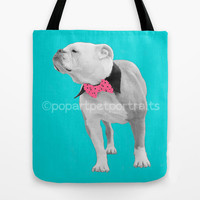 Novelty photo tote bag, personalized Photo tote bag, dog tote bag, pet tote bag, dog portrait bag,  pet portrait bag, beach tote bag