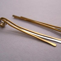 Lluvia Earrings (brass and sterling)