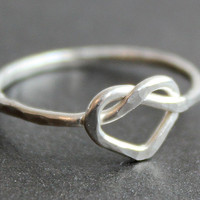 Heart Knot Ring Sterling Silver