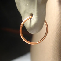 Small Hoop Earrings Copper Plain 13mm SINGLE Larger Hoops Collection