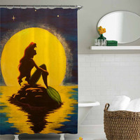 ariel the little mermaid shower curtain,shower curtain size 36x72 48x72 60x72 66x72