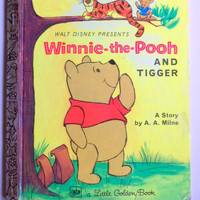 Vintage Winnie The Pooh and Tigger Golden Book 1972