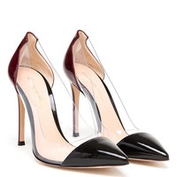 GIANVITO ROSSI | Pointed Two-Tone Perspex Pumps | Browns fashion & designer clothes & clothing