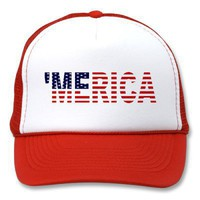 'MERICA USA Flag Hat from Zazzle.com