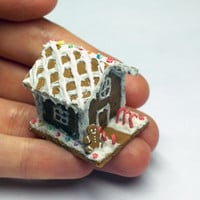 1:12 Scale Dollhouse Miniature Gingerbread House