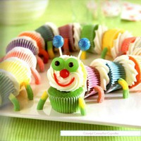 Caterpillar Cupcake